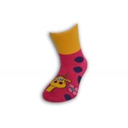 Veselé detské ponožky so žirafkou
