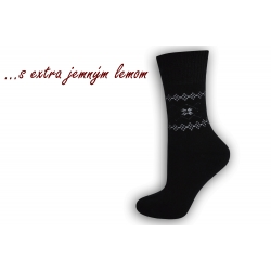Ponožky s extra jemným lemom - čierne