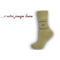 Teplé ponožky s extra jemným lemom - béžová
