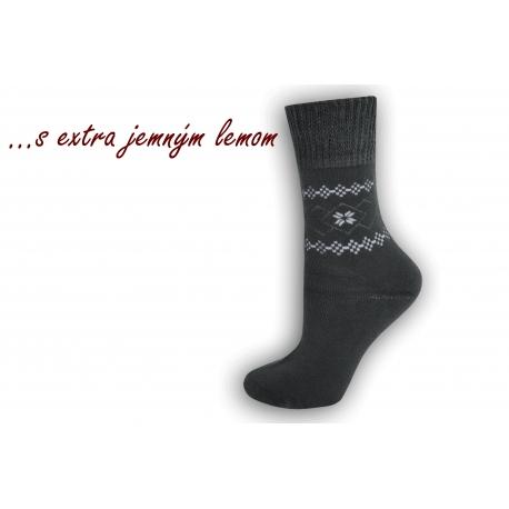 Ponožky s extra jemným lemom - sivé