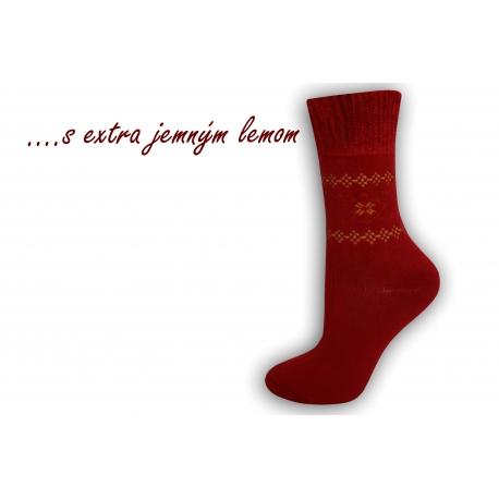 Ponožky s extra jemným lemom - bordové