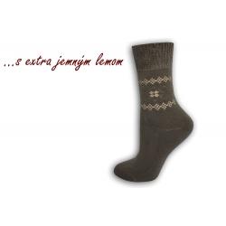 Ponožky s extra jemným lemom - hnedé