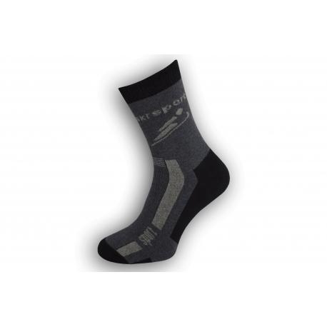 Antibakteriálne športové ponožky na lyžovanie - modré