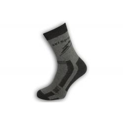 Antibakteriálne športové ponožky na lyžovanie - sivé