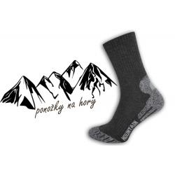 Pánske športové ponožky na turistiku - šedé