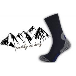Pánske športové ponožky na turistiku - tm.modré