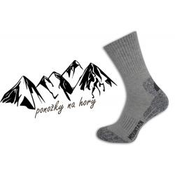Pánske športové ponožky na turistiku - bl.sivé
