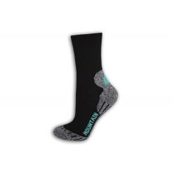 Turistické dámske teplé ponožky - tyrkys