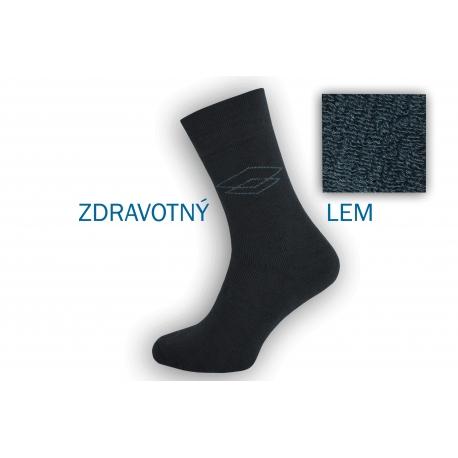 Pánske ponožke s extra širokým lemom - šedé