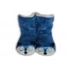 Modré detské papuče so zvieratkom