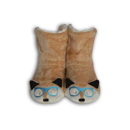 Béžové detské papuče so zvieratkom