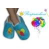 Modré detské papuče s balónikmi