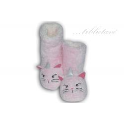 Trblietavé dámske ružové papuče s očami