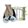 Čierne detské papuče s pandou