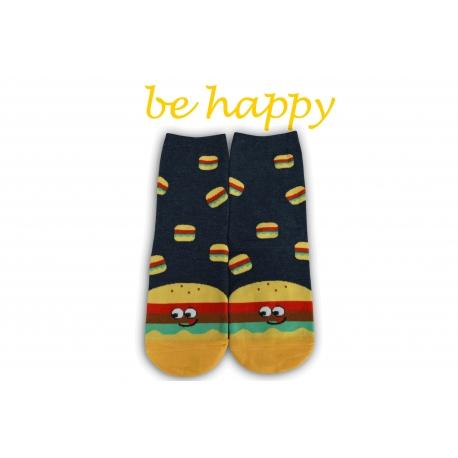 Veselé ponožky s hamburgerom