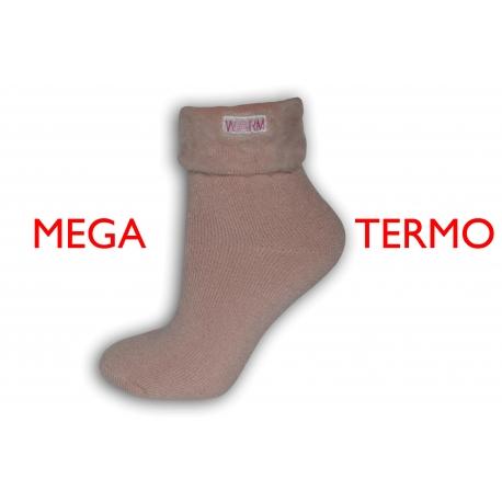 Extra teplé ponožky so zdravotným lemom - ružové