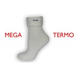 IBA 35-38! Mega termo ponožky so zdravotným lemom - maslové