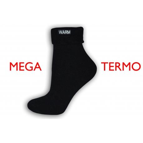 Extra teplé ponožky so zdravotným lemom - čierne
