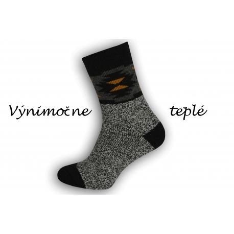 Výnimočne teplé ponožky z najjemnejšej vlny alpaky - antracit