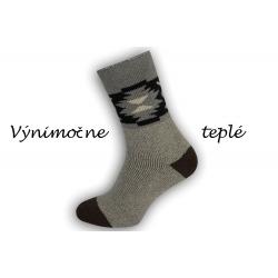 Výnimočne teplé ponožky z najjemnejšej vlny alpaky - béžové