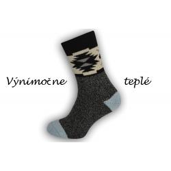 Vlnené ponožky s voľným lemom