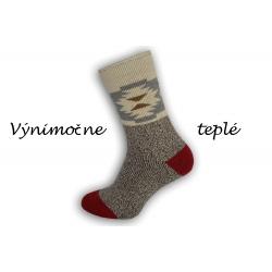 Výnimočne teplé ponožky z najjemnejšej vlny alpaky - hnedé