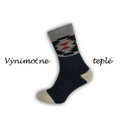 IBA 40-43! Výnimočne teplé popnožky z alpaky - tm.modré