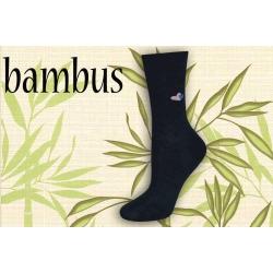 Modré bambusové ponožky so srdiečkami