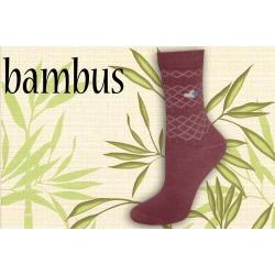 IBA 38-41! Malinové bambusové ponožky so srdiečkami