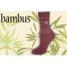 Malinové bambusové ponožky so srdiečkami