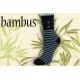 Pásikavé bambusové ponožky s kotvičkami –modré