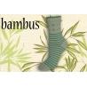 Pásikavé bambusové ponožky s kotvičkami – zelenkavé