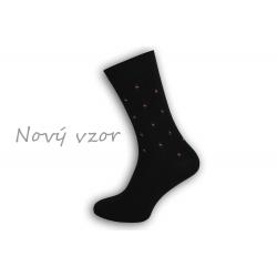 IBA 39-42! Čierne vzorované pánske ponožky