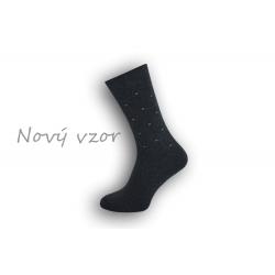 Vzorované sivé pánske ponožky