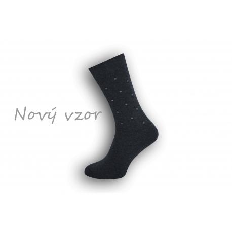 Netradičné modré oblekové ponožky so vzorom
