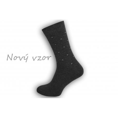 Netradičné sivé oblekové ponožky so vzorom