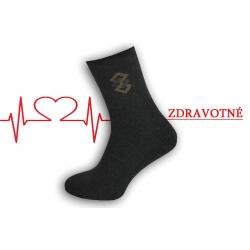 Dobré teplé ponožky na opuchnuté nohy - antracitové