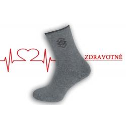 Dobré teplé ponožky na opuchnuté nohy - bl.sivé