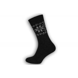 Extra teplé pánske ponožky z vlny - antracit