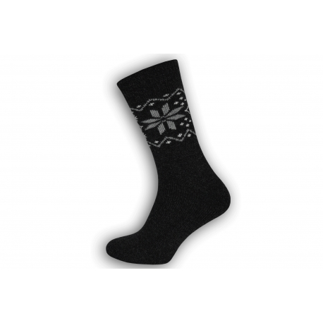 Super teplé pánske ponožky z vlny - antracit