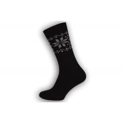 Super teplé pánske ponožky z vlny - čierne