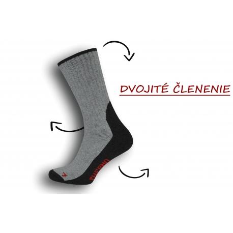Dobré pánske ponožky s trekovým vzorom - bl.sivé