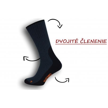 Dobré pánske ponožky s trekovým výzorom - tm.modré