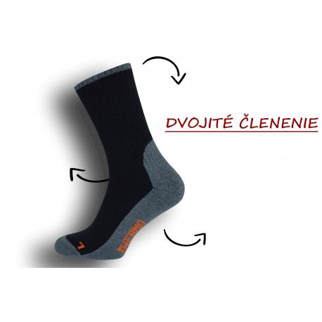 Dobré pánske ponožky s trekovým výzorom  - bl.modré
