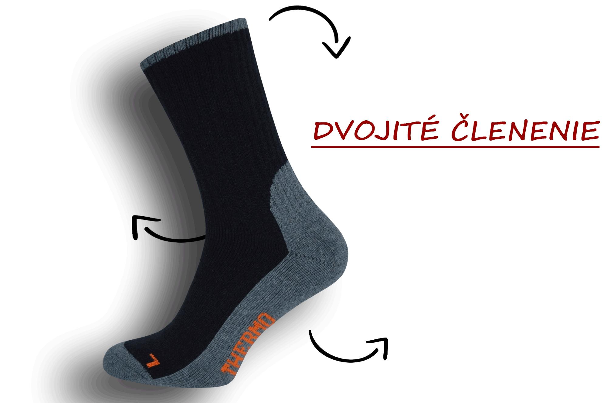 Dobré pánske ponožky s trekovým výzorom - bl.modré ad0e92c221