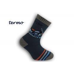 Chlapčenské  termo ponožky s motorkov