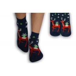 Detské ponožky s veselým obrázkom jeleňa