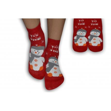 Detské ponožky s veselým obrázkom snehuliaka f6e58b5b0b