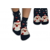 Modré ponožky s veselým obrázkom Mikuláša