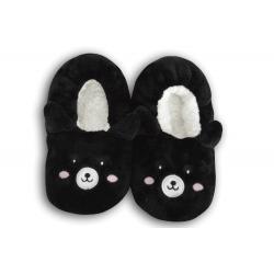 IBA 28-31! Čierne nízke detské papuče s obrázkom